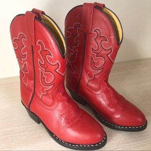 Smokey Mountain Boots Red Children's Size 10.5